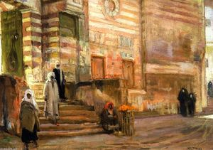 Henry Ossawa Tanner - A Mosque in Cairo