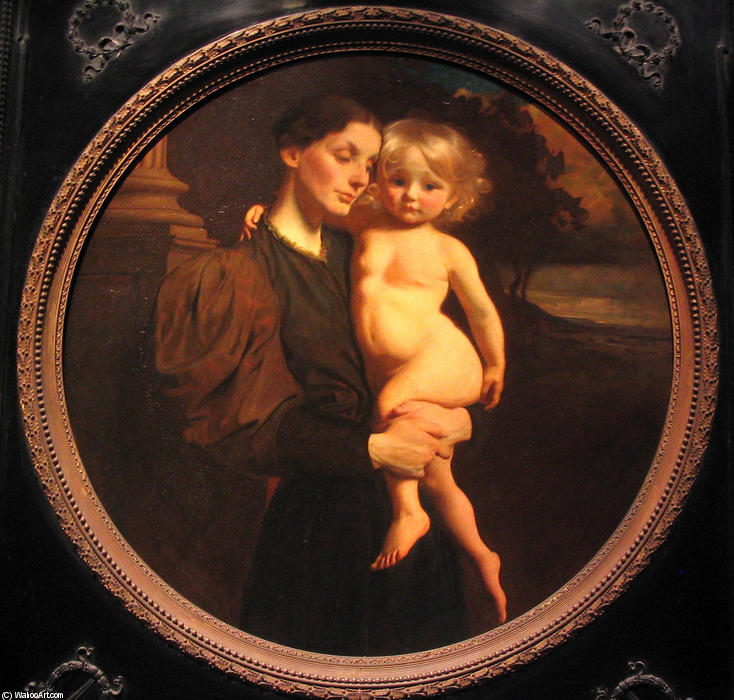 Mother and Child by Abbott Handerson Thayer (1849-1921, United States)