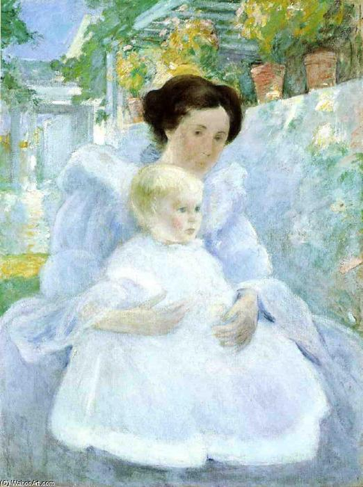 Mother and Child, 1897 by John Henry Twachtman (1853-1902, United States) | Museum Art Reproductions John Henry Twachtman | WahooArt.com