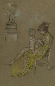 James Abbott Mcneill Whistler - Mother and Child