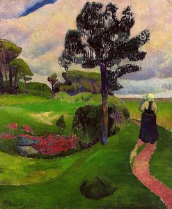 Paul Serusier - Mother and Child on a Breton Landscape