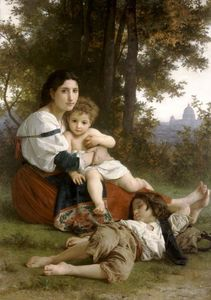 William Adolphe Bouguereau - Mother and Children