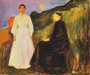 Edvard Munch - Mother and Daughter