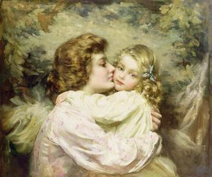 Thomas Benjamin Kennington - Mother and Daughter