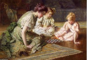 Francis Coates Jones - Mother and Daughters Playing Chess