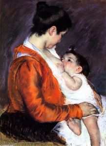 Mary Stevenson Cassatt - Mother Louise Nursing Her Baby