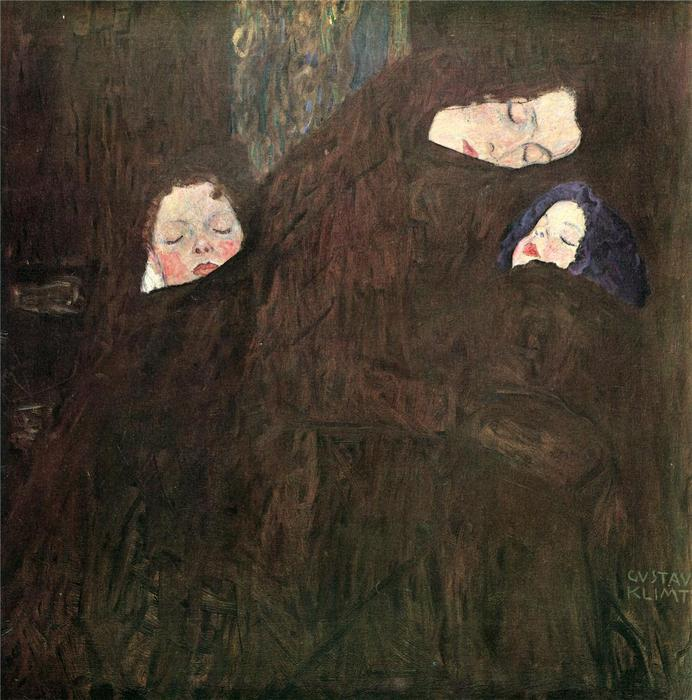Mother with Children, 1910 by Gustav Klimt (1862-1918, Austria) | Reproductions Gustav Klimt | WahooArt.com
