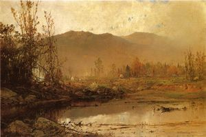 William Louis Sonntag - Mountain Lake in Autumn