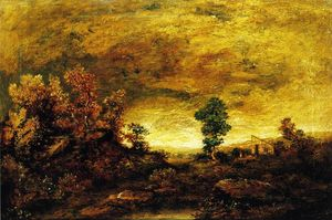 Ralph Albert Blakelock - A Mountain Road near Gorham, N.H.