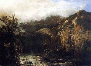 William Louis Sonntag - A Mountain Stream from the Foot of Mt. Carter, New Hampshire