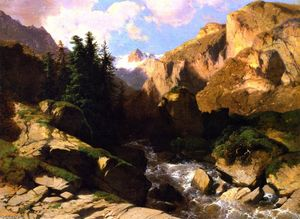 Alexandre Calame - Mountain Torrent