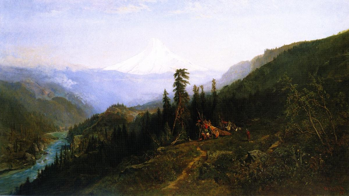 Mount Hood from Hood River, 1881 by William Keith (1838-1911, Scotland) | WahooArt.com