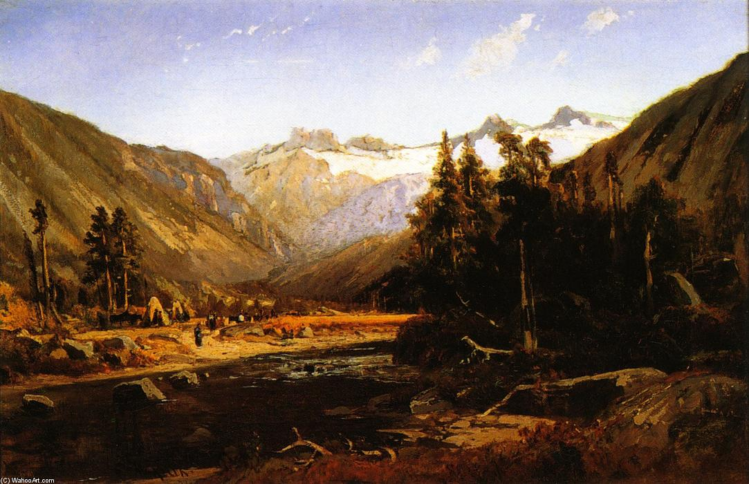 Mount Lyell, California Sierra, Oil On Canvas by William Keith (1838-1911, Scotland)