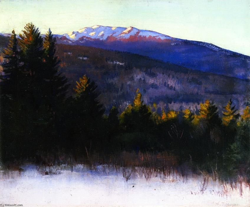 Mount Monadnock, Oil On Panel by Abbott Handerson Thayer (1849-1921, United States)