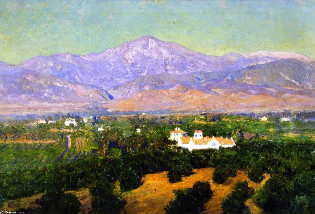 Mount San Bernardino, from Smiley`s Heights, Redlands, 1902 by Theodore Clement Steele (1847-1926, United States) | Famous Paintings Reproductions | WahooArt.com