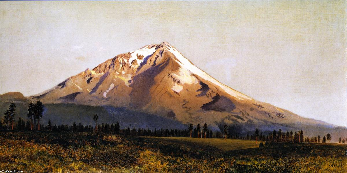 Mount Shasta, 1870 by Gilbert Munger (1837-1903, United States) | Museum Quality Reproductions | WahooArt.com