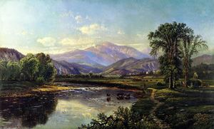 Edmund Darch Lewis - Mount Washington and the Saco River