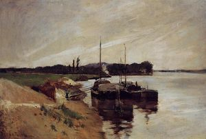John Henry Twachtman - Mouth of the Seine
