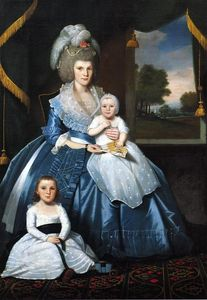 Ralph Earl - Mrs. Benjamin Tallmadge and Son Henry Floyd and Daughter Maria Jones