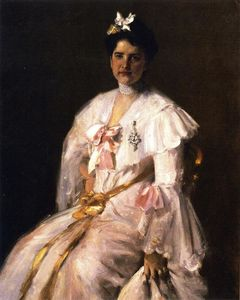 William Merritt Chase - Mrs. Chase (also known as Portrait of Mrs. Chase, Portrait of Mrs. C.)