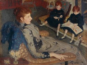 Philip Wilson Steer - Mrs Cyprian Williams and Her Two Little Girls