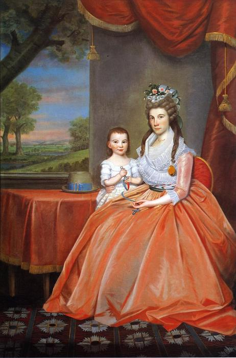 Mrs. Elihaj Boardman and Son, 1796 by Ralph Earl (1751-1801, United States) | Oil Painting | WahooArt.com