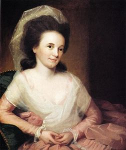 Order Painting Copy : Mrs. John Johnston (Martha Spear), 1785 by Ralph Earl (1751-1801, United States) | WahooArt.com