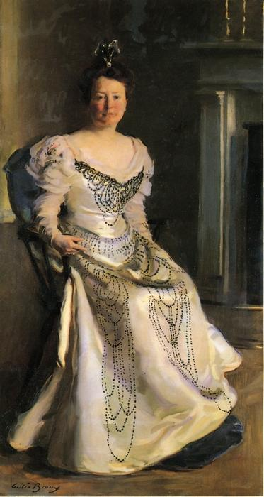 Mrs. Robert Abbe, Oil On Canvas by Cecilia Beaux (1855-1942, United States)
