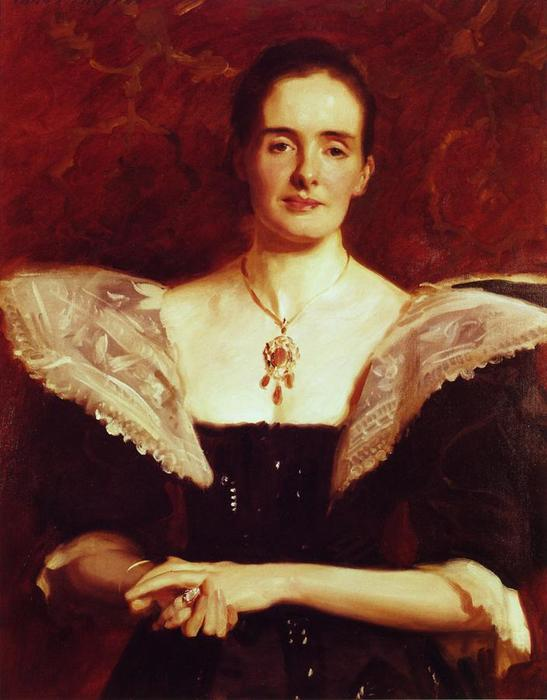 Mrs. William Russell Cooke, Oil On Canvas by John Singer Sargent (1856-1925, Italy)