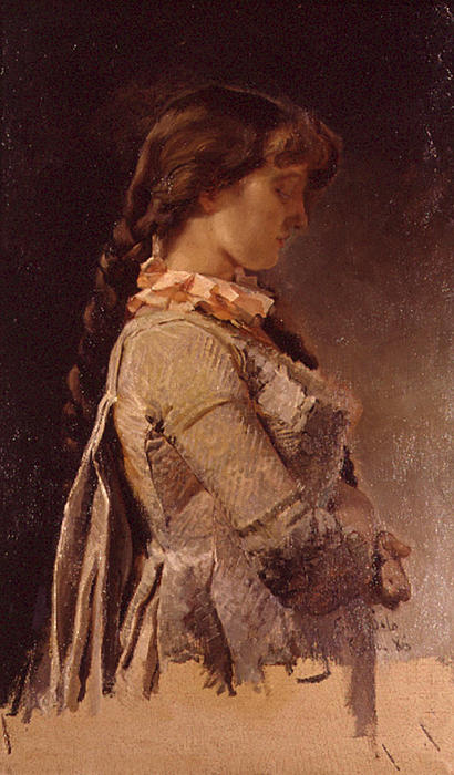 Muchacha by Emilio Sala Y Frances (1850-1910, Spain) | Oil Painting | WahooArt.com