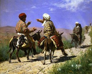 Vasily Vasilevich Vereshchagin - Mullah Rahmin and Mullah Kerim Quarelling on the Way to the Bazaar