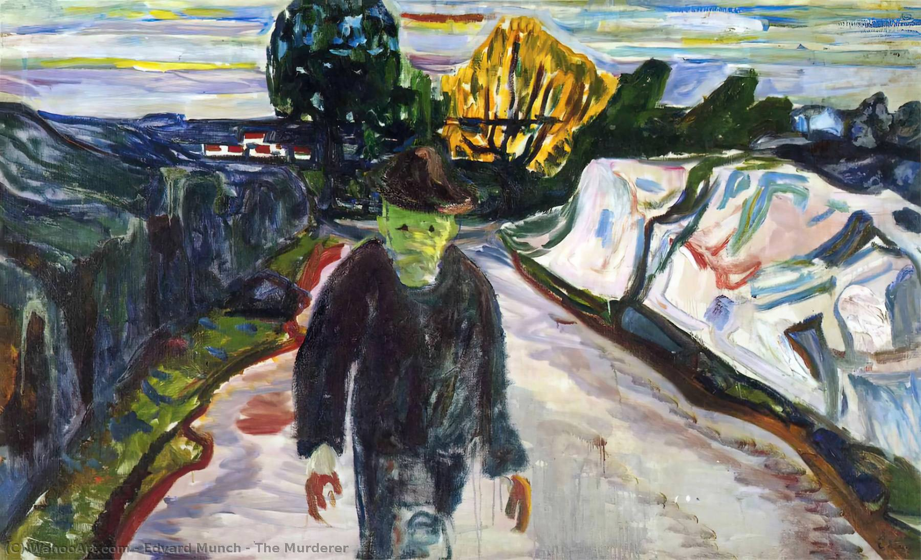 The Murderer, Oil On Canvas by Edvard Munch (1863-1944, Sweden)