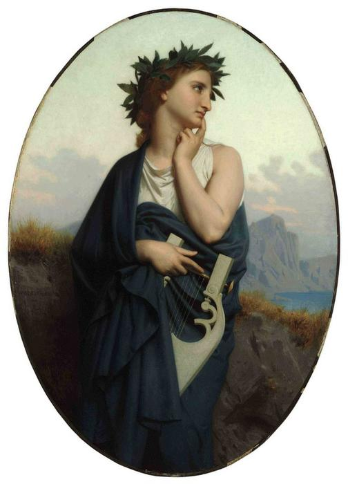 The Muse (also known as Philomèle), Oil On Canvas by William Adolphe Bouguereau (1825-1905, France)