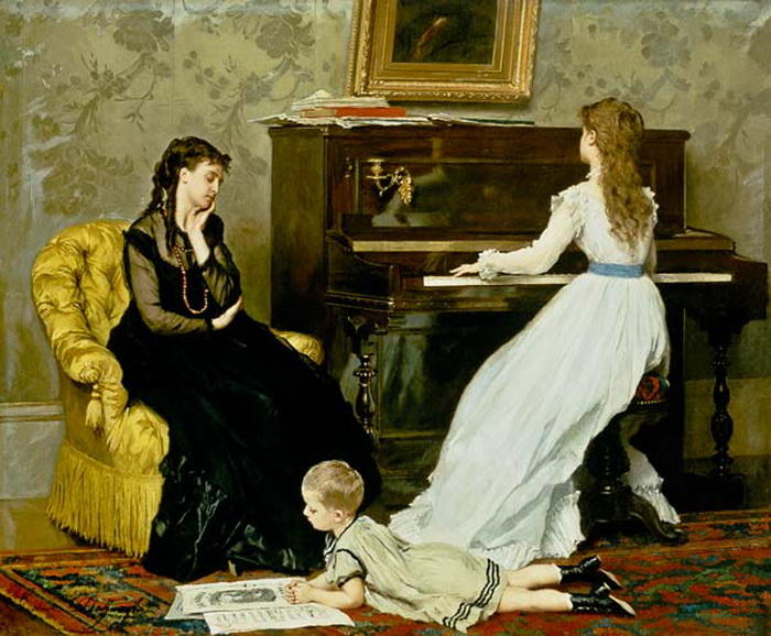 Music Hour by Gustave Leonard De Jonghe (1829-1893, Belgium) | Famous Paintings Reproductions | WahooArt.com