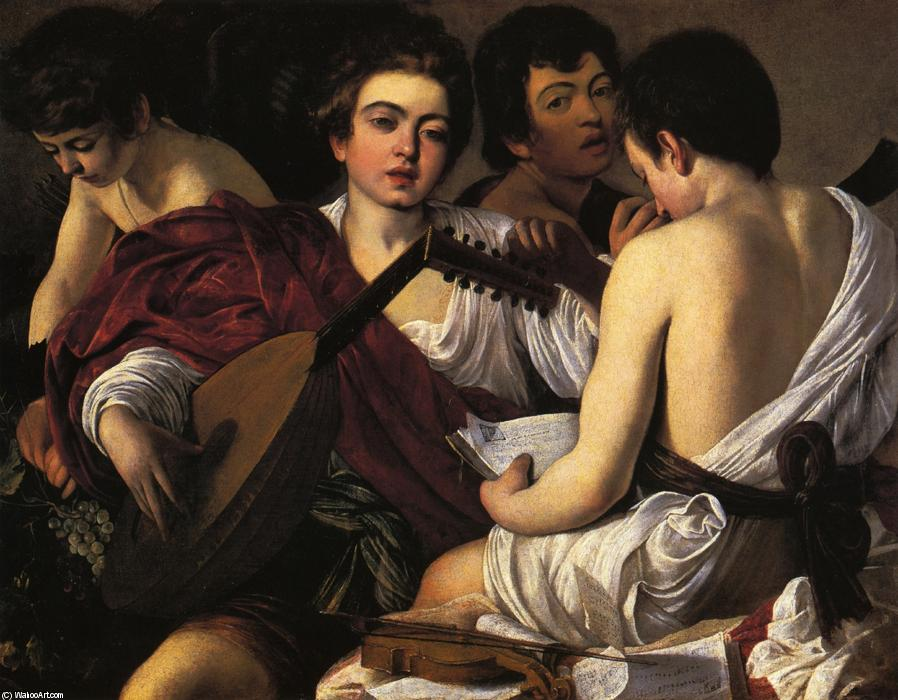 Order Paintings Reproductions | The Musicians, 1595 by Caravaggio (Michelangelo Merisi) (1571-1610, Spain) | WahooArt.com