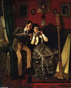 John George Brown - The Music Lesson