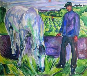 Edvard Munch - Man with Horse