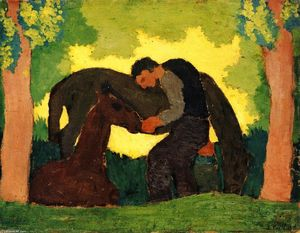 Jean Edouard Vuillard - Man with Two Horses