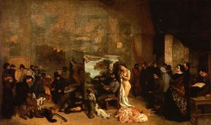 Gustave Courbet - My Atelier (also known as Allegory)