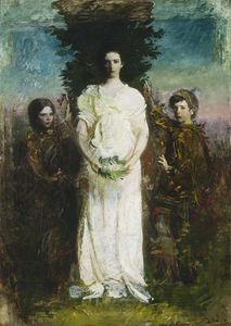 Abbott Handerson Thayer - My Children (also known as Mary, Gerald, and Gladys Thayer)