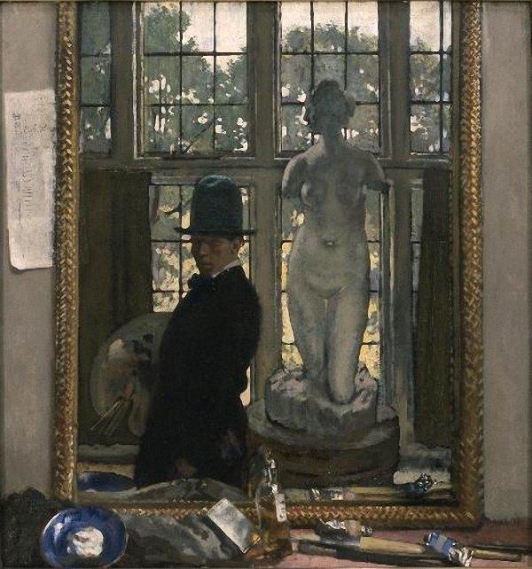 Myself and Venus, 1910 by William Newenham Montague Orpen (1878-1931, Ireland) | Oil Painting | WahooArt.com