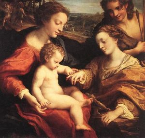 Antonio Allegri Da Correggio - The Mystic Marriage of St. Catherine