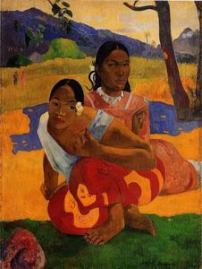 Paul Gauguin - Nafeaffaa Ipolpo (also known as When Will You Marry.) - (Famous paintings reproduction)