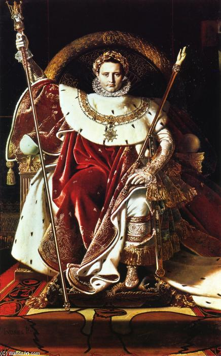 Napoleon as Jupiter Enthroned, Oil On Canvas by Jean Auguste Dominique Ingres (1780-1867, France)