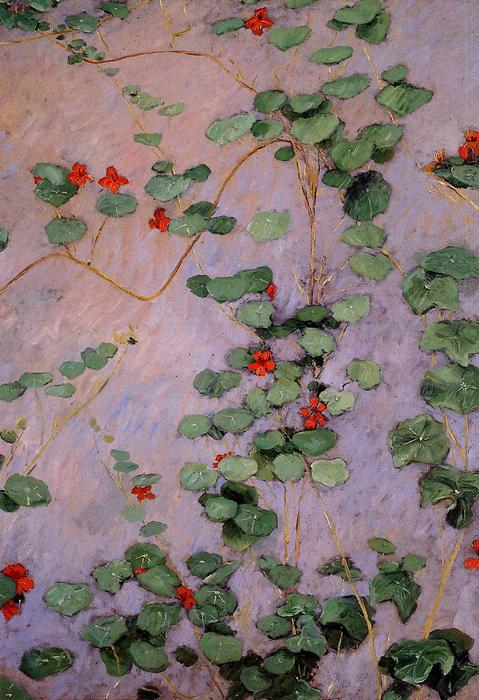 Nasturtiums, Oil On Canvas by Gustave Caillebotte (1848-1894, France)