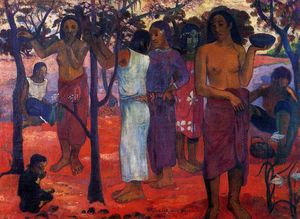 Paul Gauguin - Nave Nave Mahana (also known as Delightful Day)