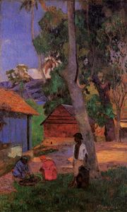 Paul Gauguin - Near the Huts