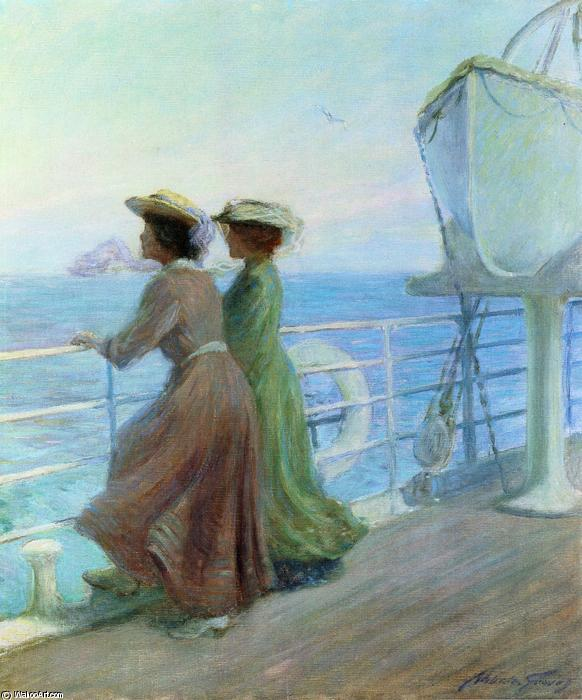 Nearing Home, 1905 by Abbott Fuller Graves (1859-1936, United States) | Famous Paintings Reproductions | WahooArt.com