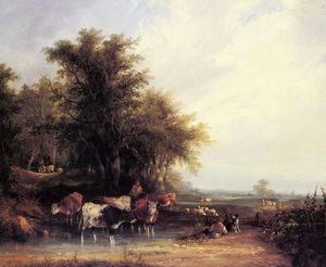 William Shayer Senior - Near the New Forest
