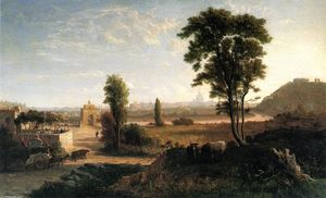George Loring Brown - Near Sunset - View of Rome from Porte Molte